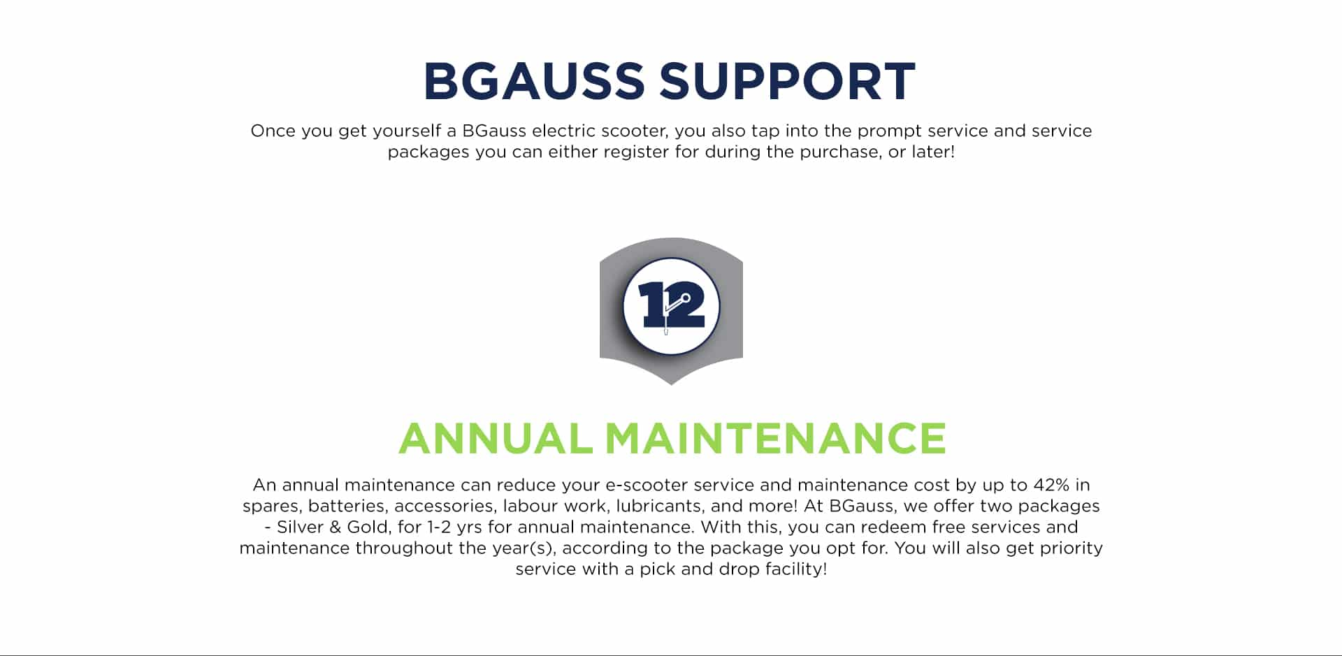 BGauss electric scooter App Support
